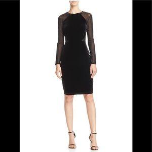 Black Velvet French Connection Dress - 4